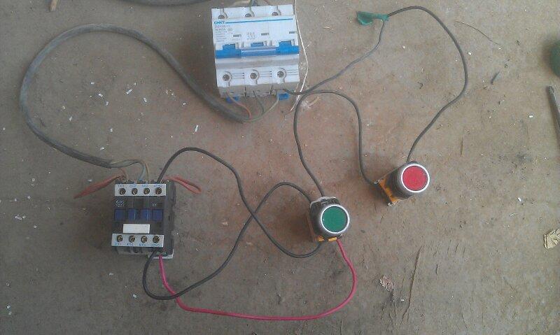 交流接触器接线图 电动机可逆运行控制电路 星型接线图;-自锁正转控图片