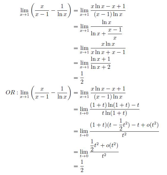 lim (1-x)\lnx