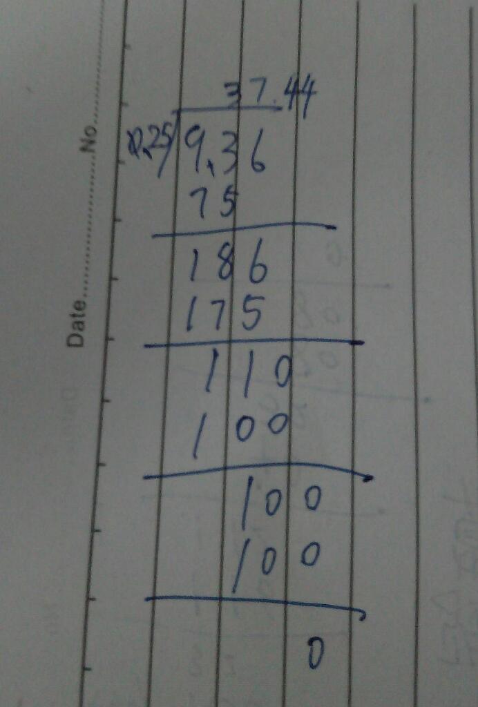 36除以0.25的竖式