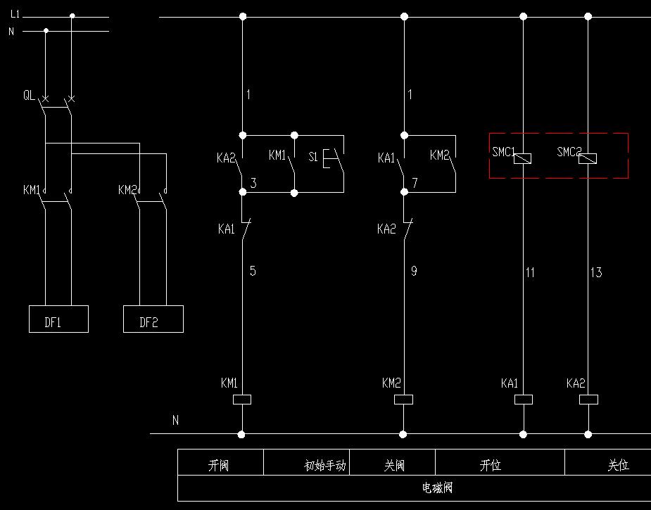 个磁性开关两心线的那种2个,怎样控制气缸来回工作循环不停,求接线图?图片