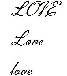 love 的多种写法图片