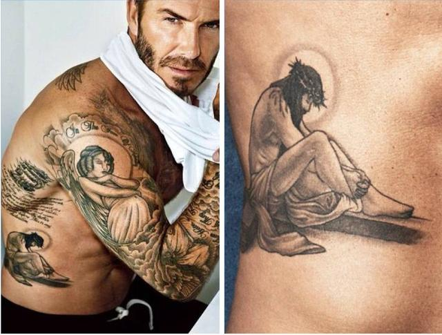 小贝身上很多纹身都是和家庭有关图片