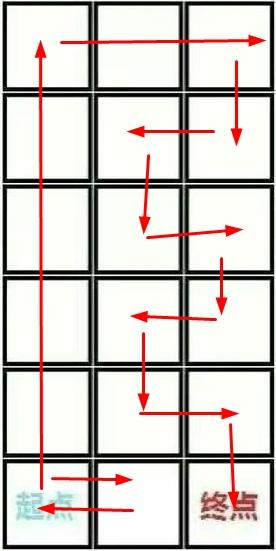 3乘6的格子 起点到终点