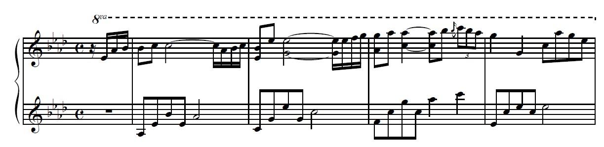 kiss the rain钢琴弹奏,新手问题.图片