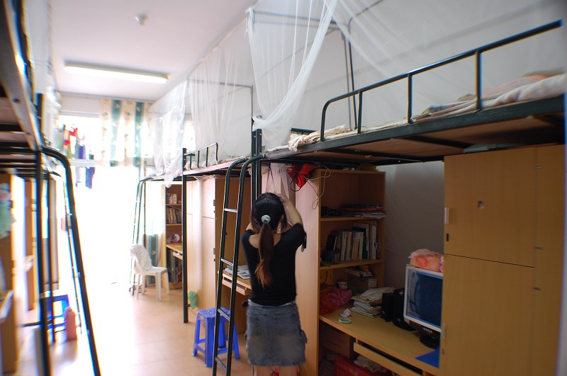 我从百度微博上找的集美大学诚毅学院的宿舍照片.是真图片