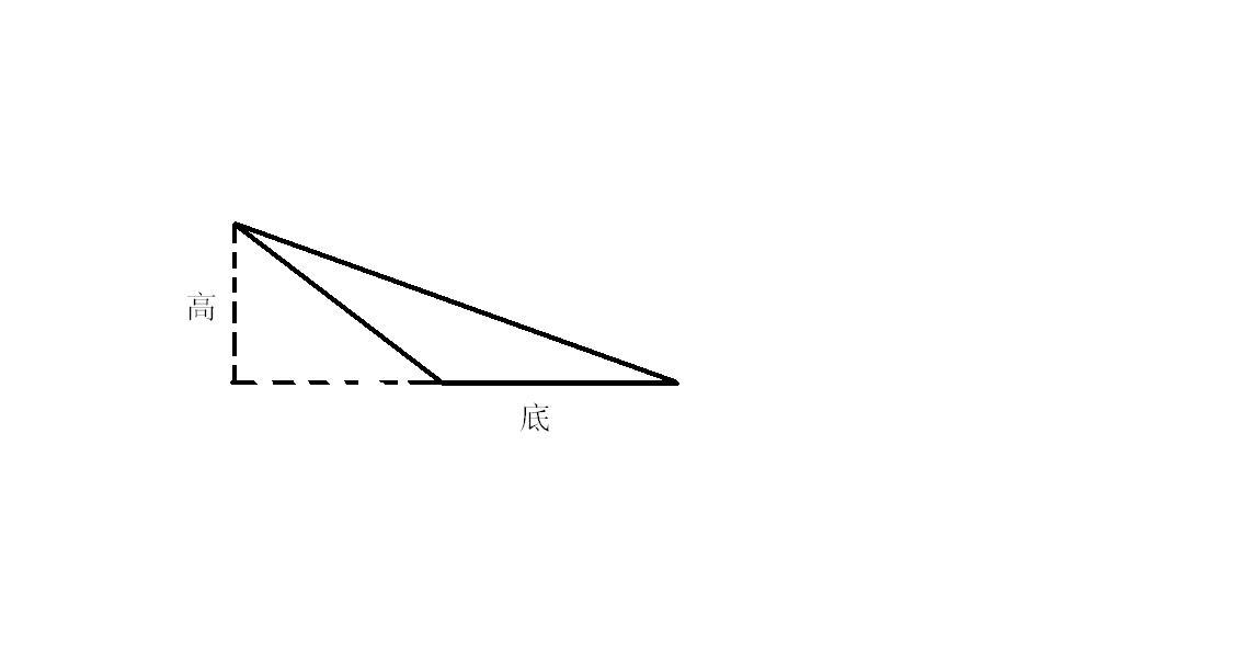 钝角三角形的面积应该怎么求?不以最长边算底的话.图片
