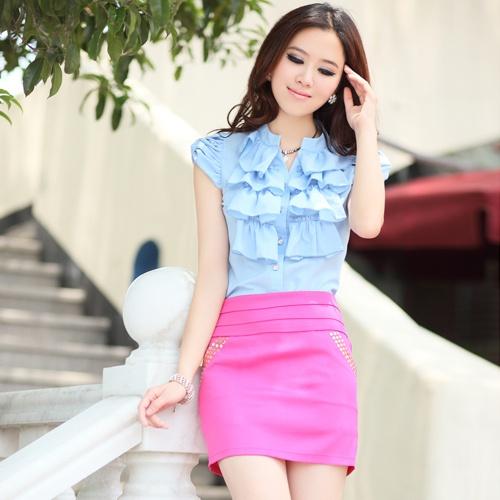 美女们 穿衣服粉色配蓝绿色傻吗? 500