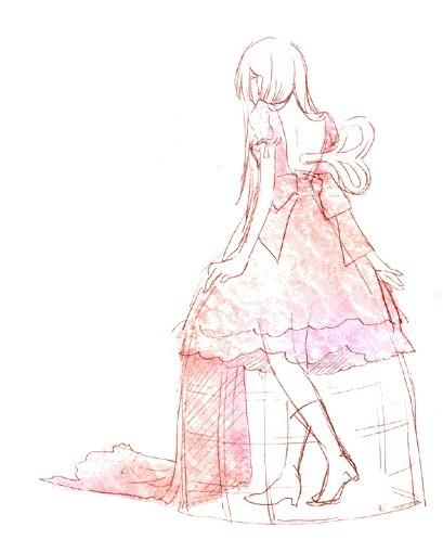 动漫女生画法衣服裙子