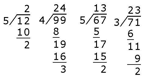 三位数除以一位数商是二位数的题