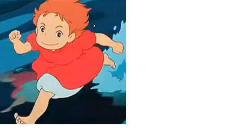 一个棕色头发,穿红衣服的小女孩在水中跑的那张图片