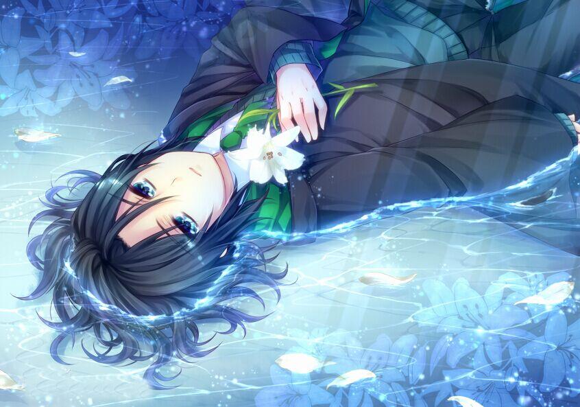 求一个人在江水中漂浮的图片 动漫_百度知道