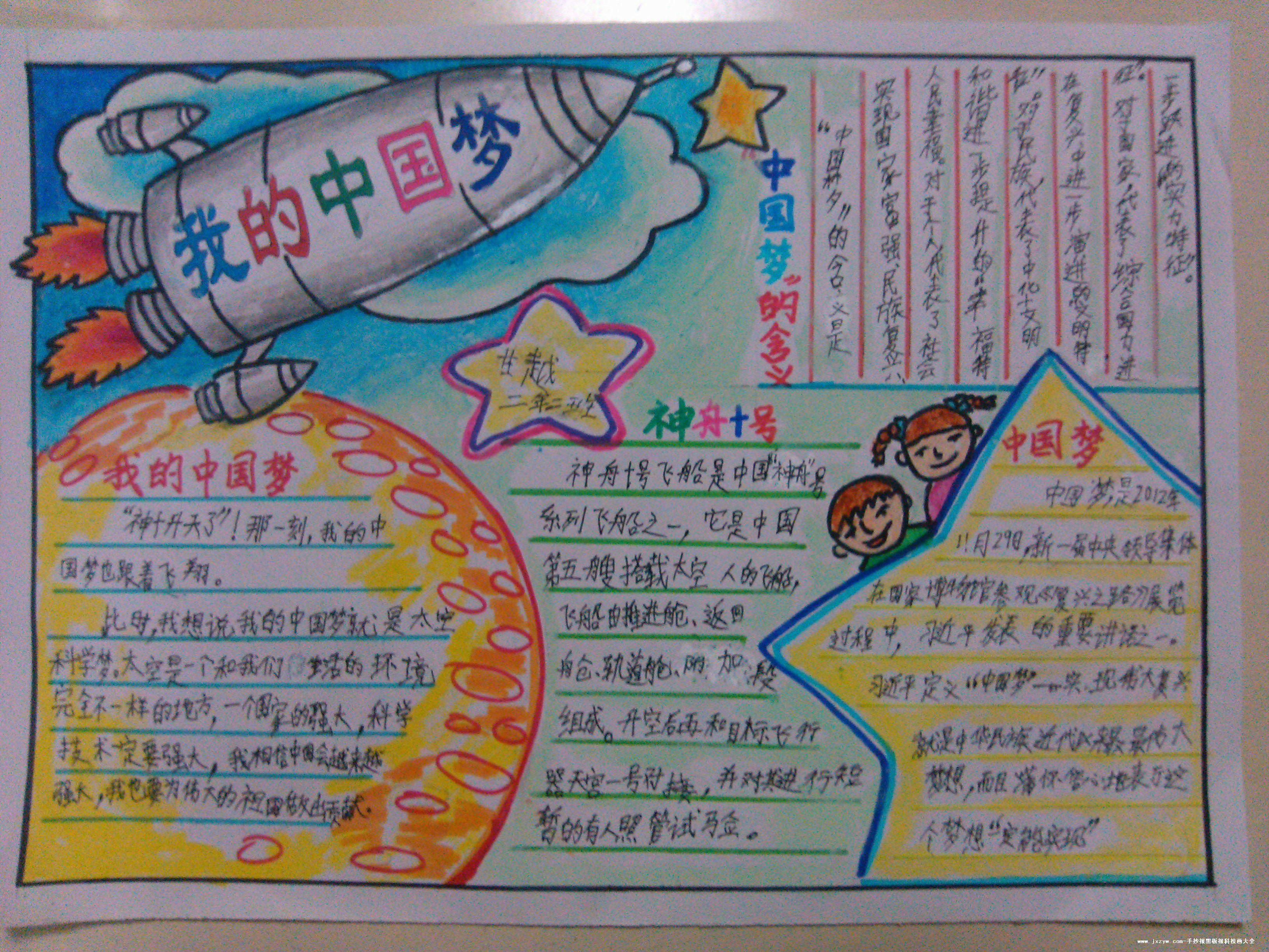 张中国梦我的梦手抄报