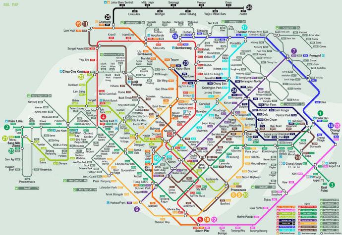 新加坡地铁路线图