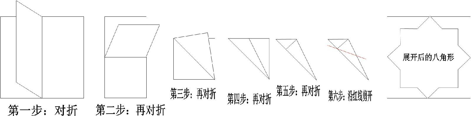 如何剪出八角形