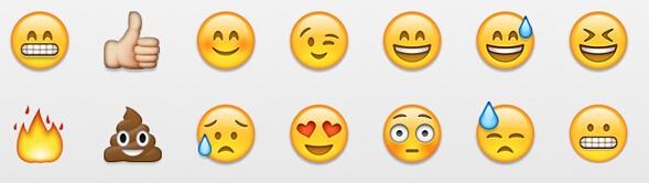 为什么有一些emoji表情我没有.像第一张图第一行的,第图片