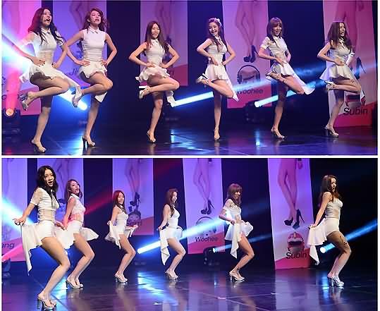 韩国一个美女组合mv里是掀裙子的