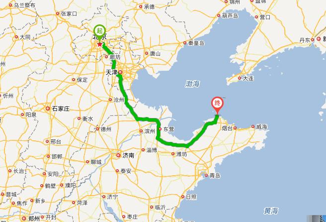 北京到蓬莱