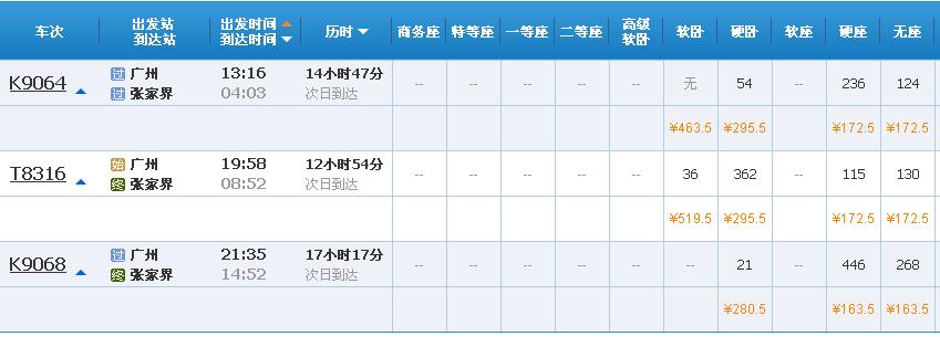 广州怎么去张家界