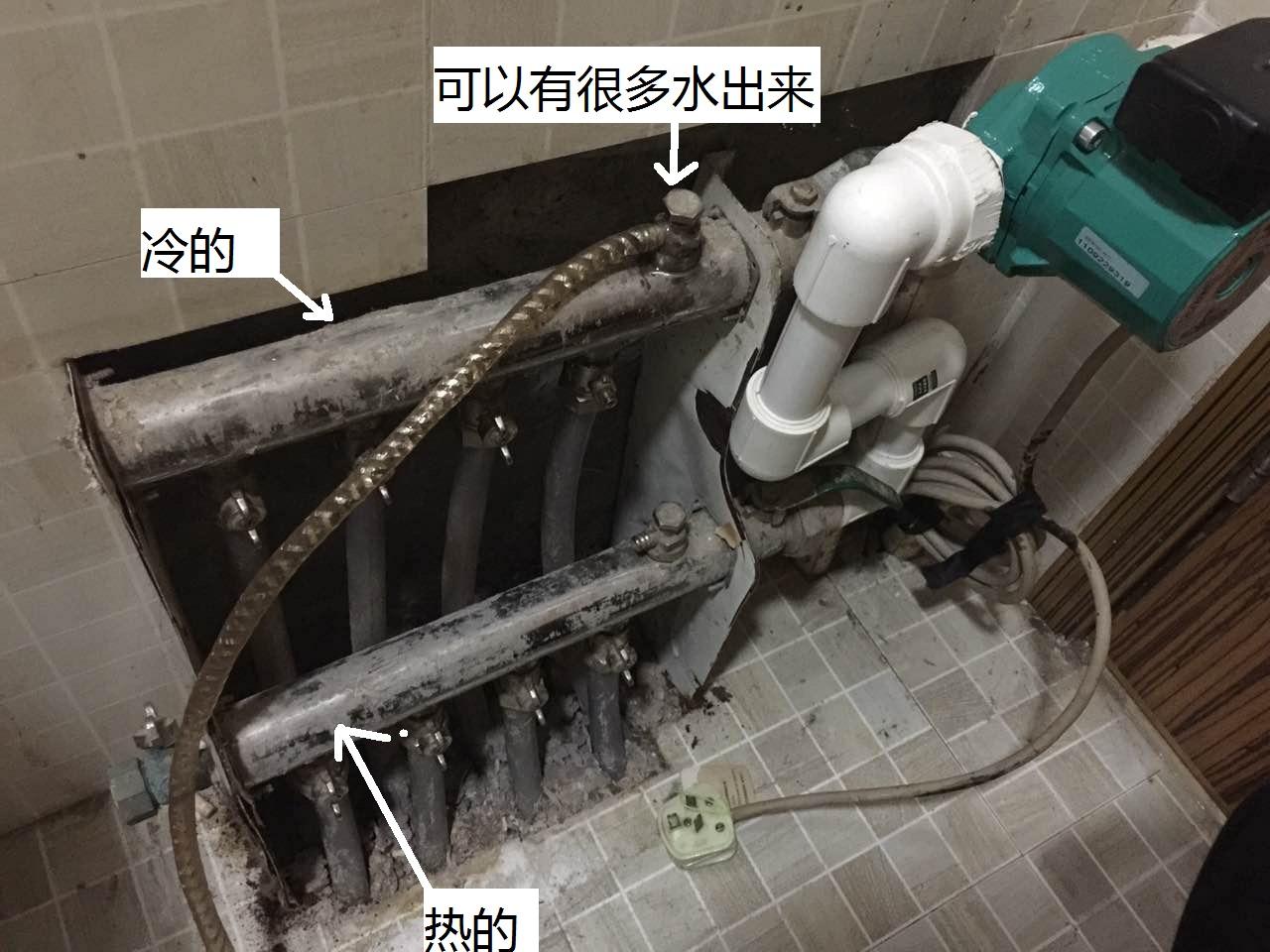 地暖水泵安装示意图