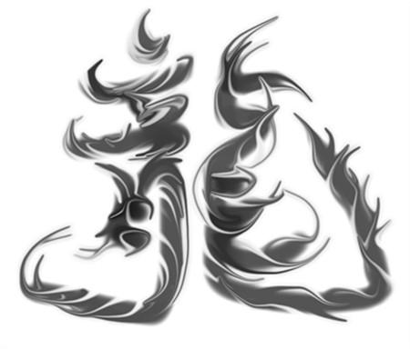 """分类:书画美术悬赏: 50 或帮我设计一个艺术字的公司名  """"龙涛水族""""图片"""