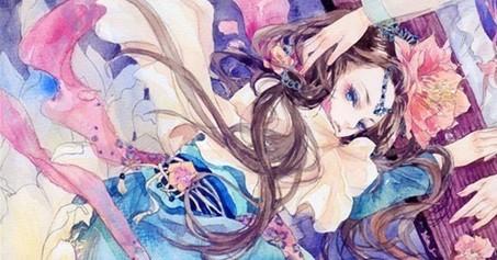 求古风水墨妖娆女子图