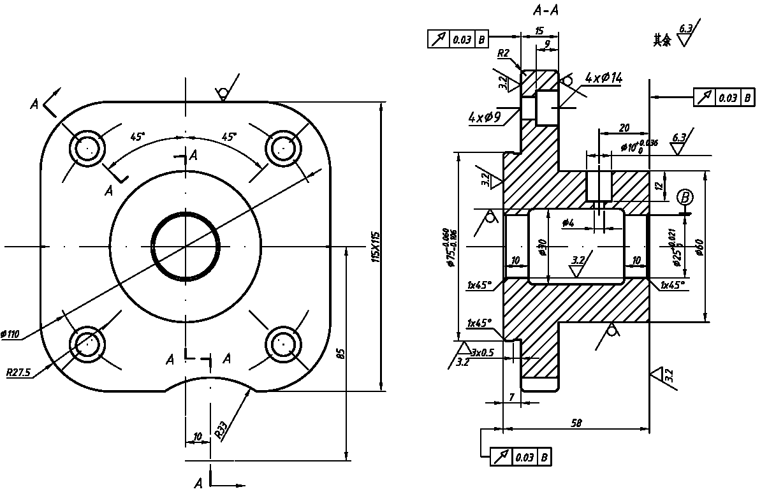 proe工程图 proe工程图比例 proe工程图怎么转pdf图片