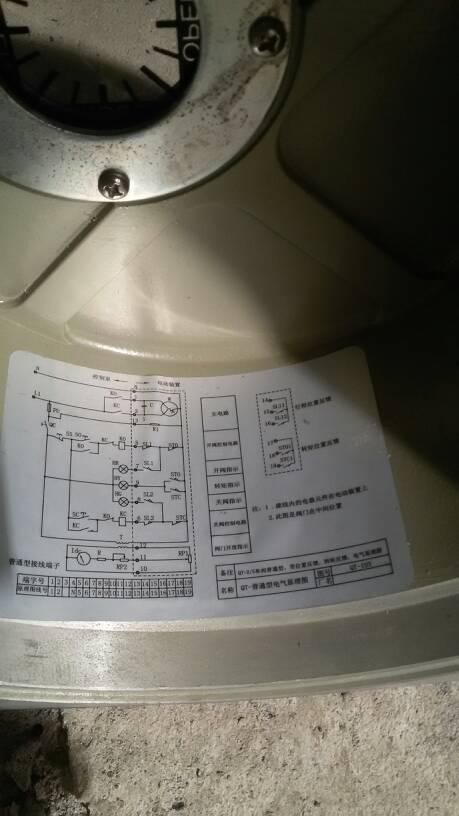 上海冠龙电动阀不知道怎么接线图片