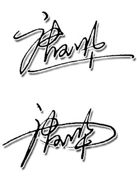 唐玉华艺术签名图片