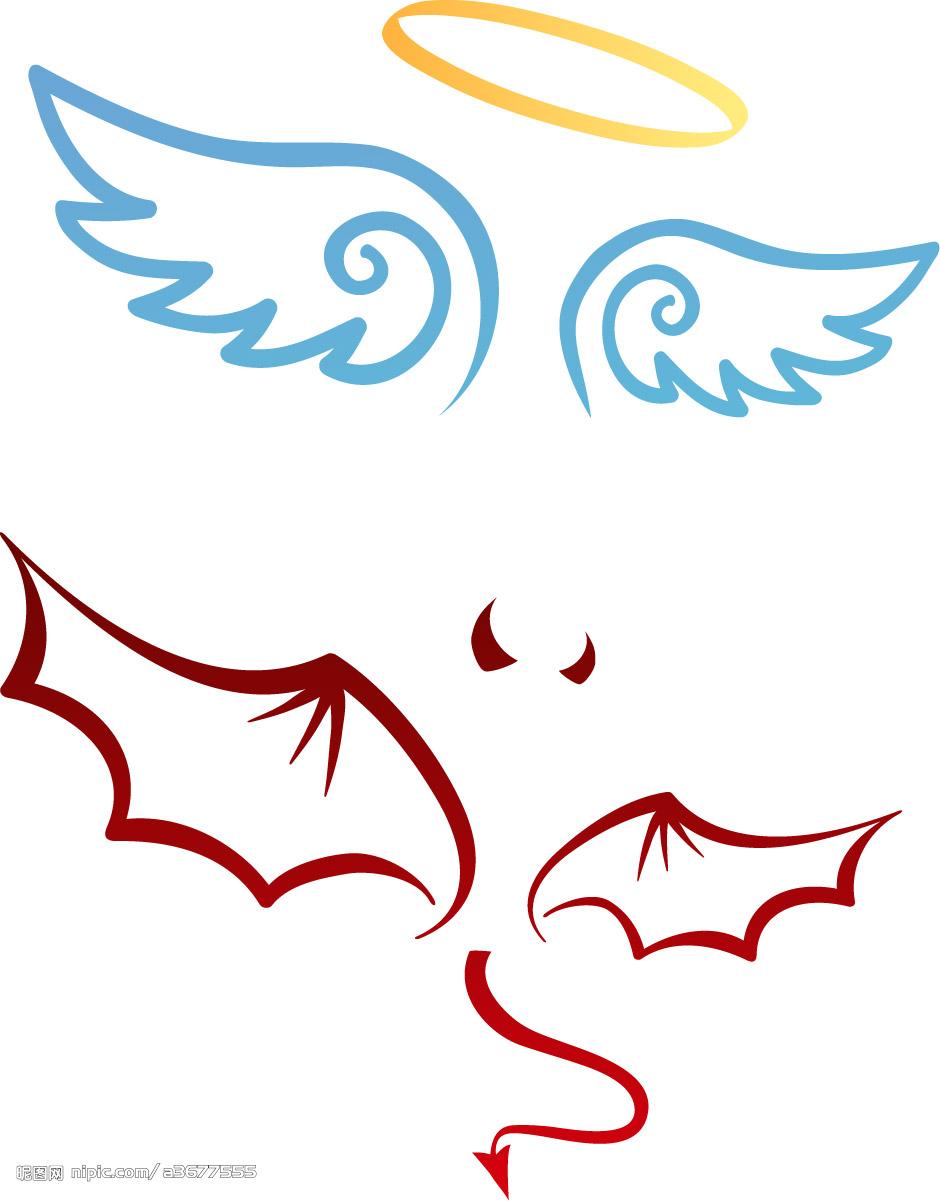 卡通天使翅膀的画法_百度知道