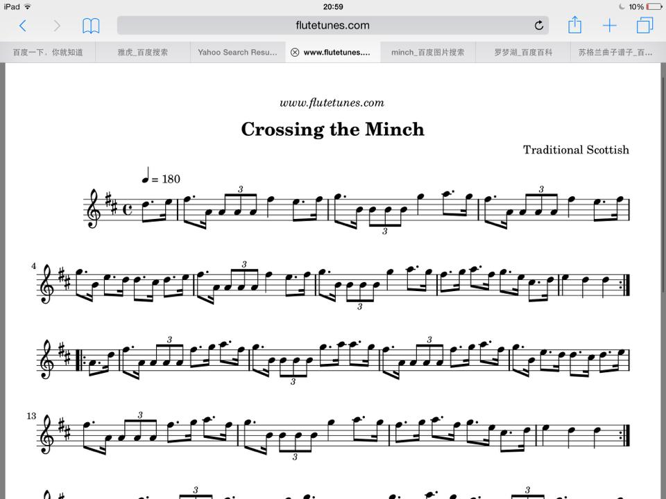 """重赏!谁有苏格兰曲子""""crossing the minch""""的小提琴谱子.图片"""