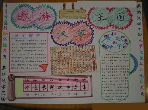 五年级遨游汉字王国手抄报怎么写
