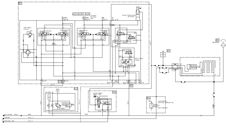 舒勒压力机液压离合制动器液压图分析:需要详细油路图片