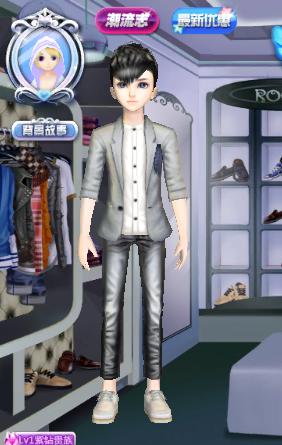 炫舞男生发型《黑色麻吉》配什么衣服好看?图片