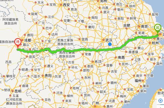 上海到峨眉山