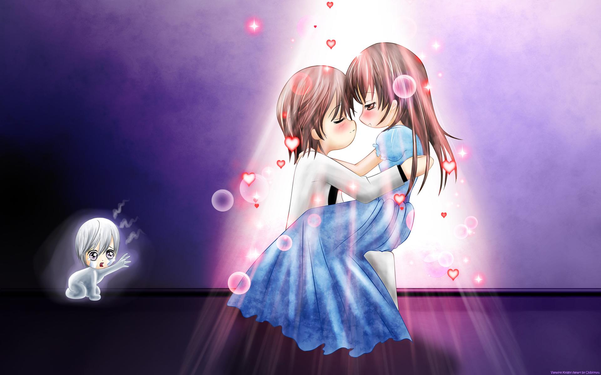 两个人是恋人开心的另一个在悲伤 ,最好是动漫的