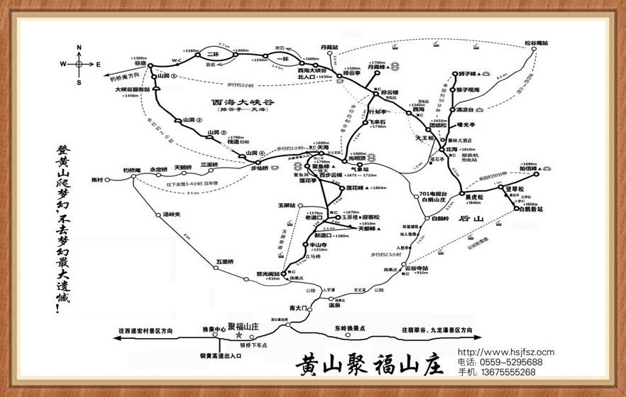 黄山各景点步行时间
