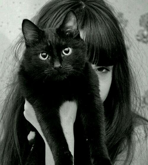 抱猫的女生头像闺蜜