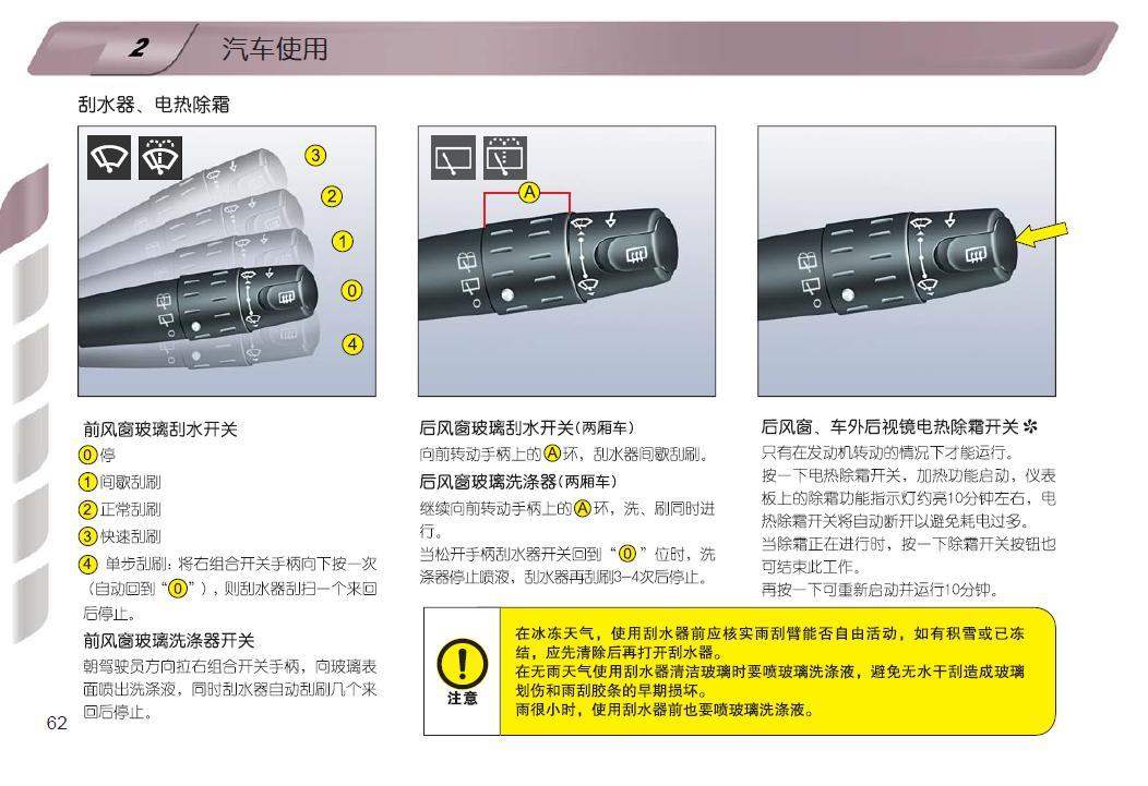 雪铁龙爱丽舍的灯光怎么使用 高清图片