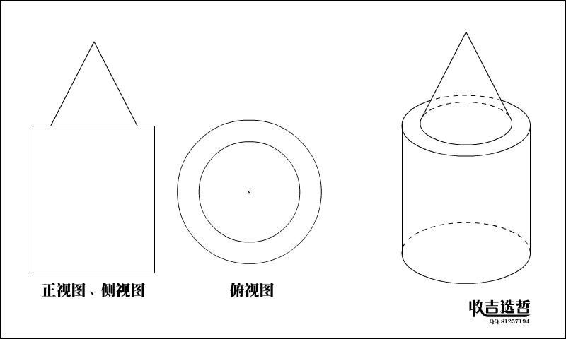 单位是厘米.那么圆锥体积与圆柱体积的比是多少图片
