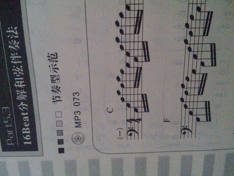 电子琴这个c和弦指法左手怎么弹?用数字标注来指法图片
