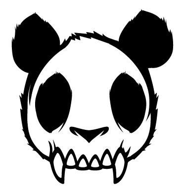 """这是潮牌""""不死熊猫的logo""""图片"""