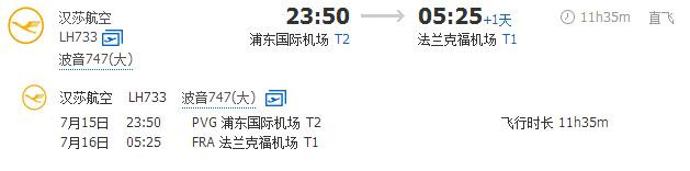 上海到法兰克福距离