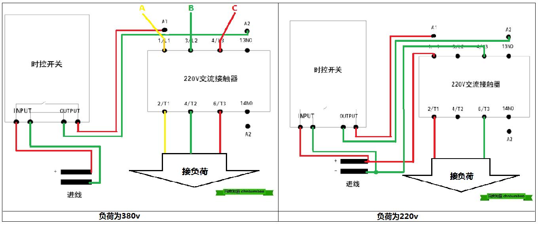 220v交流接触器接线图图片