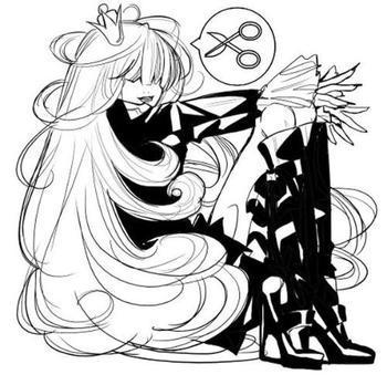 动画漫画黑白图