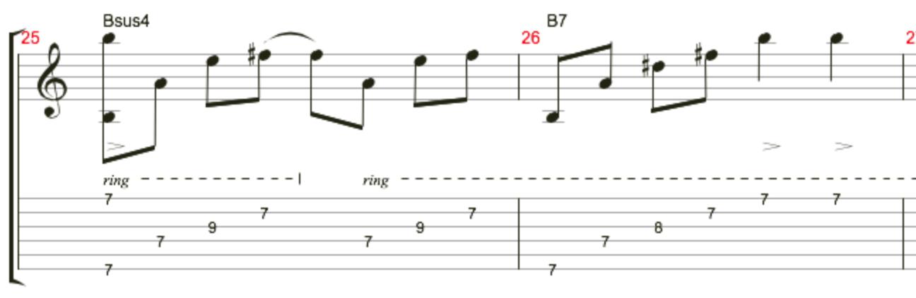 天空之城吉他指弹的一部分编指法问题图片