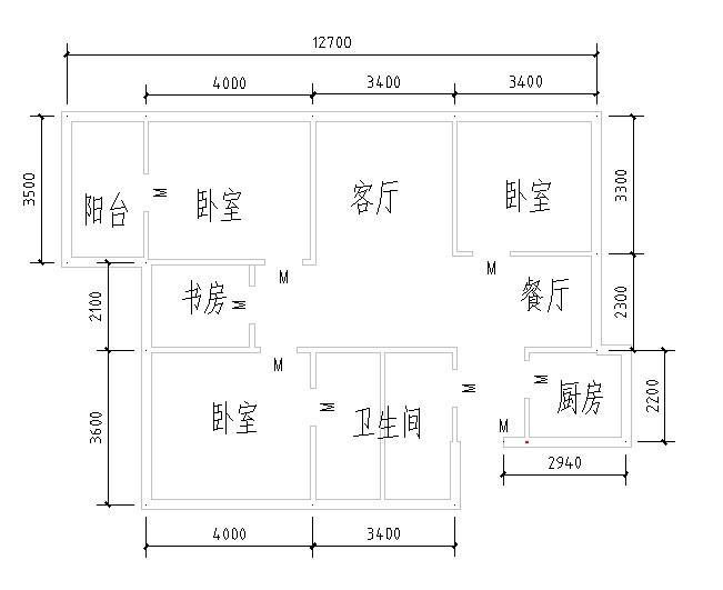 求住宅平面设计图,要cad的,明天交作业,急求!图片