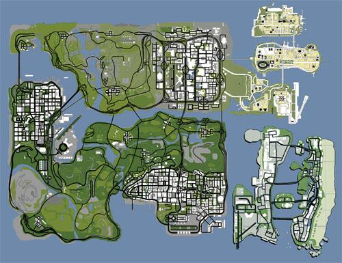 谁有GTA SA的三大地图合集MOD图片
