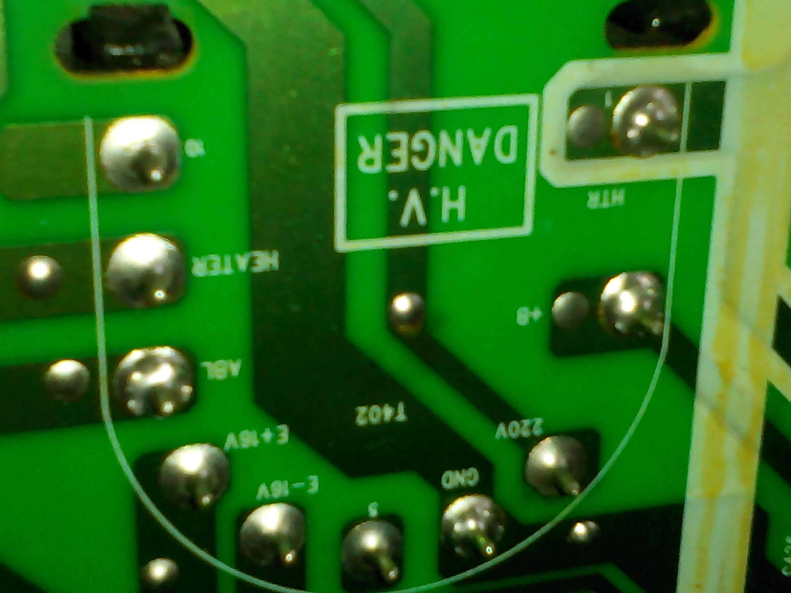 crt电视机的高压包 16v和地短路 220v和地低阻 确定高清图片