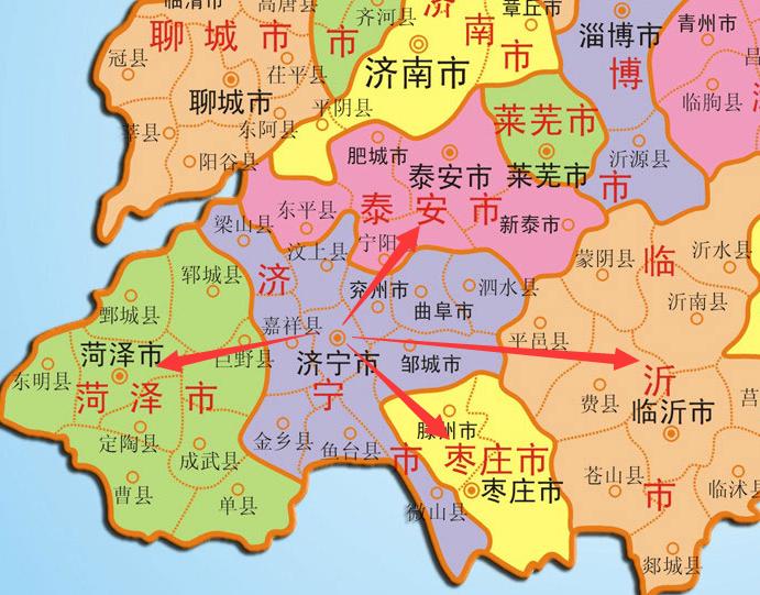 与家乡山东相邻的省份是哪些?