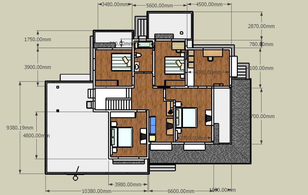 农村房屋设计图10米宽16米长盖三层楼框架图片